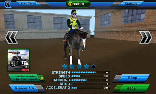 3D Police Horse Racing Extreme screenshot 4