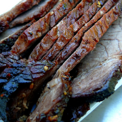 London Broil with a Sesame-Soy-Brown Sugar Marinade