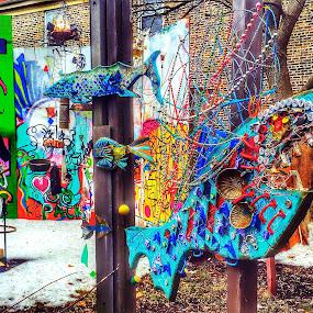 ARTISTISTIC FUN by Louis Perlia - City,  Street & Park  Street Scenes ( metal, color, graffiti, art, artistic, photo stream )