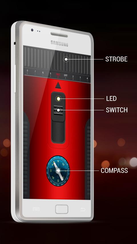 Bright Led Compass Flashlight Screenshot 1