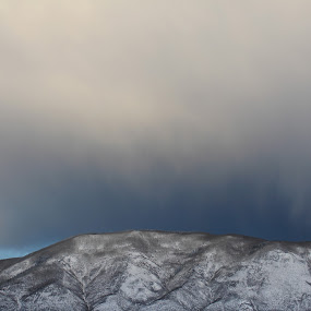 cloud cave by Nick Sweeney - Landscapes Mountains & Hills ( contrast, mountain, snow, cloud, cave, darkness )