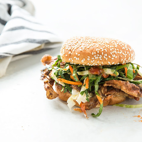 Softshell Crab Sandwich with Collard Slaw