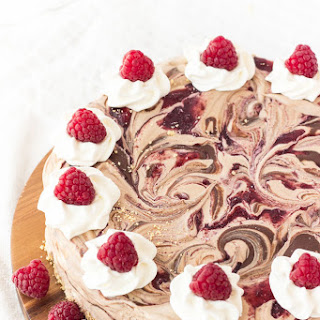 Nutella and Raspberry Swirl Ice Cream Cake with Ice Cream Cone Crust