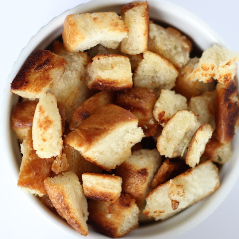 Homemade Croutons with Campbell's Soup