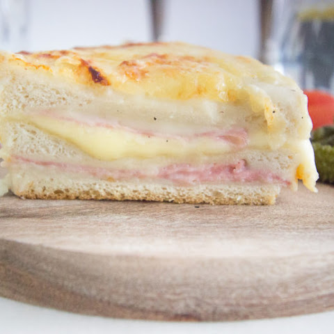 Ham and Cheese Croque Cake