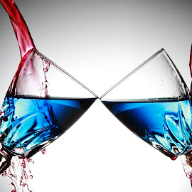 Twin glasses 9.31 by Peter Salmon - Artistic Objects Glass