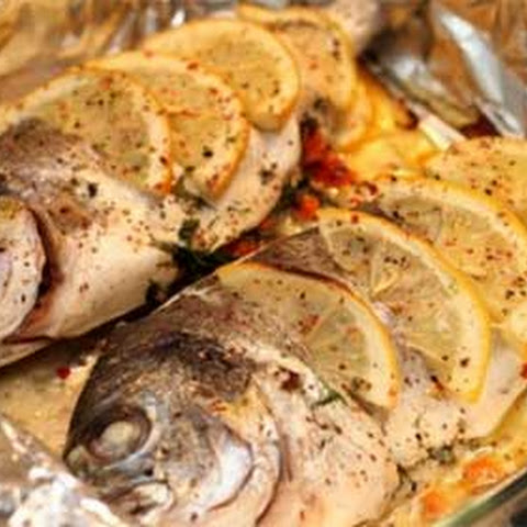 Maltese Baked Sea Bream