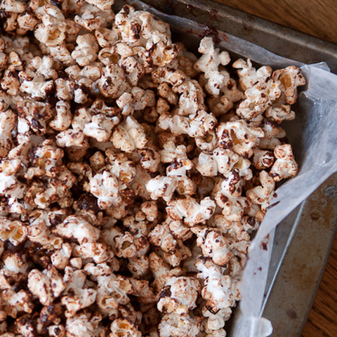 Chocolate Covered Bacon Fat Popcorn with Sea Salt