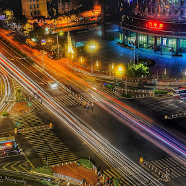 One night in GuangZhou, China by Xiaoyu Cheoh - City,  Street & Park  Night ( photography, nightscape )