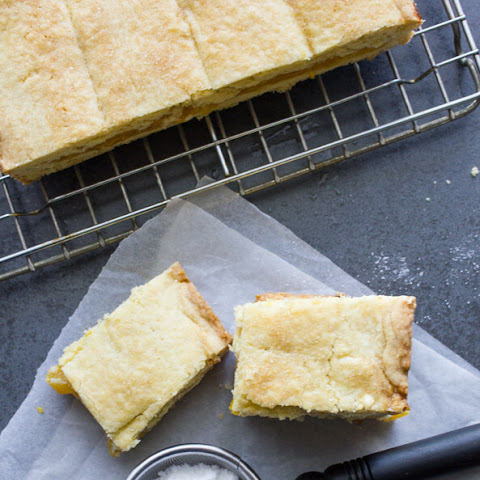 Italian Crostata Bars with Peach Filling