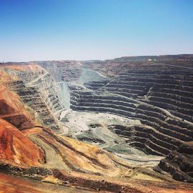 Pit by Shane Cassidy - Abstract Patterns ( kalgoorlie, out back, mine, super pit, western australia )