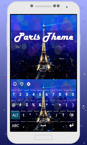 android Paris Keyboard Theme Screenshot 2