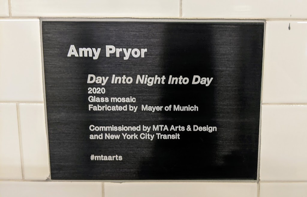 Amy Pryor Day Into Night Into Day 2020 Glass mosaic Fabricated by Mayer of Munich Commissioned by MTA Arts & Design and New York City Transit #mtaartsSubmitted by @lampbane