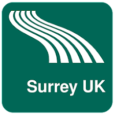 Surrey UK Map offline