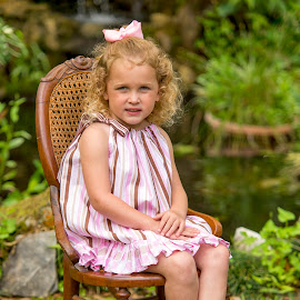 By the Pond by Sylvester Fourroux - Babies & Children Child Portraits