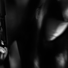Blinded ( Love is just a word ) by Rizky Arsyad - People Portraits of Women ( sad, white, ghost, women, gun, blurred, guns, girl, female, shadow, woman, dark, she, gloom, lady, blurry, alone, black, gloomy )