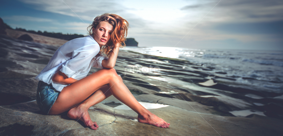 the beach by Handy Wijaya - People Fashion