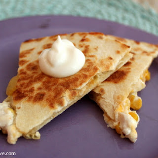 Chicken Quesadilla With Goat Cheese & Corn Salsa