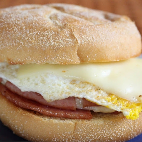 Jersey Style Pork Roll, Egg and Cheese Sandwich