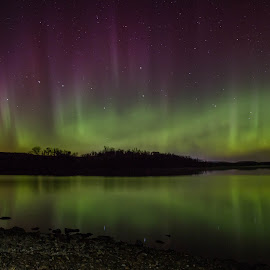Rainbow Reach by Laura Gardner - Novices Only Landscapes ( water, sky, peaceful, nd, stars, northern lights, night, lake )