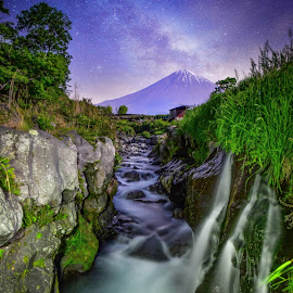 mt fuji and milky way by Nurul Anwar - Landscapes Mountains & Hills