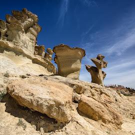 Bolnuevo Erosions (Spain) by Francisco Garcia Rios - Landscapes Travel ( erosión, relieve, ciudad encantada, españa, bolnuevo, murcia, paisaje, landscape, mazarrón, gredas, spain, erosions, relief,  )