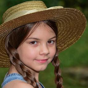 by Tiffany Serijna - Babies & Children Child Portraits ( innocent, raelyn, fun, long, brown hair, cute, rae, sun, outside, portrait,  )
