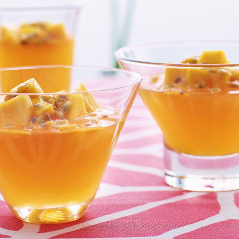 Passion Fruit Jelly with Mango
