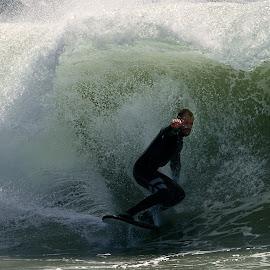 The Wedge by Jose Matutina - Sports & Fitness Surfing ( surfer, california, newport beach, the wedge )