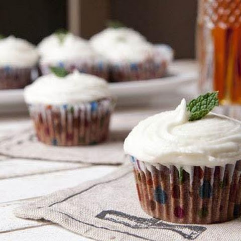 Mint Julep Chocolate Cupcakes
