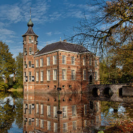 castle at the water by Egon Zitter - Buildings & Architecture Public & Historical ( mirror, reflection, old, autumn, dutch, castle, historical )