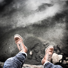 Livin on the edge by Mason Ablicki - Instagram & Mobile iPhone ( boots fall rocks water instagram iphone )