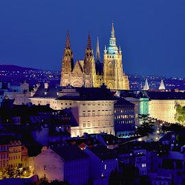 Prague by Petr Olša - City,  Street & Park  Night
