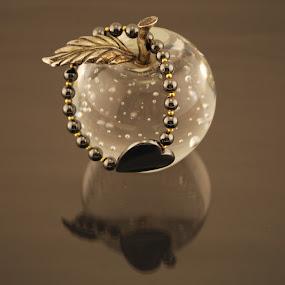 Heart by Kellie Prowse - Artistic Objects Jewelry ( bracelet, tone, heart, pewter, beads, jewelry )