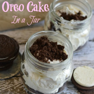 No Bake Oreo Cake In a Jar