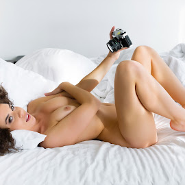 old school selfie by Meelis Adamson - Nudes & Boudoir Artistic Nude