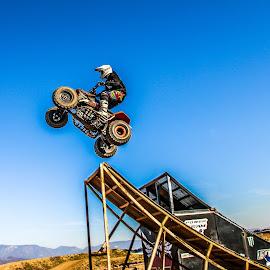 Jump1 by Mario Horvat - Sports & Fitness Motorsports ( blue sky, quad, sport, motorsport, dangerous, jump )