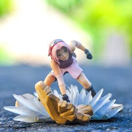 SAKURA by Phlaire Nix - Artistic Objects Toys ( still life, naruto, haruno sakura, depth of field, toys, sakura, close up, bokeh, depth,  )