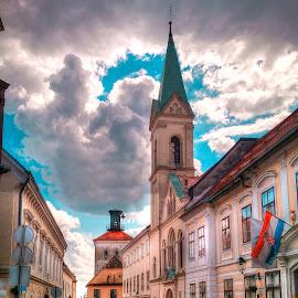 Gornji grad, Zagreb by Branko Meic-Sidic - City,  Street & Park  Street Scenes ( clouds, gornji grad, oldtown, hdr, street, croatia, zagreb, colours )