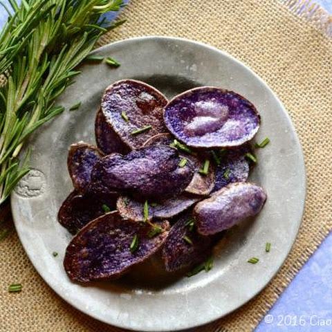 Purple Potato Chips with Garlic & Rosemary
