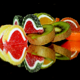candys with fruits by LADOCKi Elvira - Food & Drink Fruits & Vegetables ( citrus, candys )