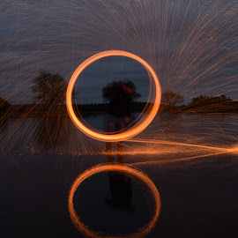by Julie Proudfoot - Abstract Fire & Fireworks