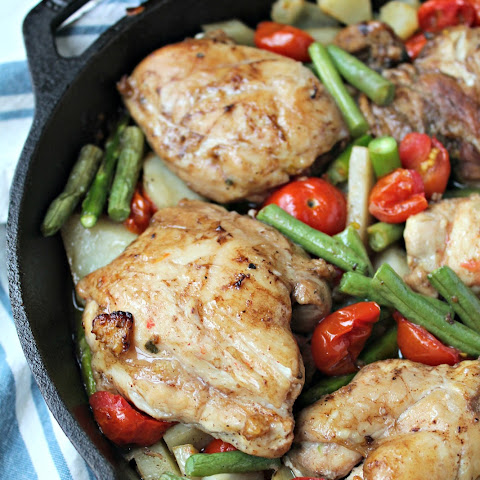 One-Pan Balsamic Chicken with Vegetables