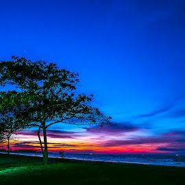 Mesmerizing Sunset…  by Laxminarayan Channa - Landscapes Sunsets & Sunrises