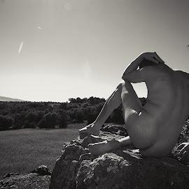 On the rock by Ukri Manu - Nudes & Boudoir Artistic Nude ( rock, nudism, nature, erotic, nude, man, body, male )
