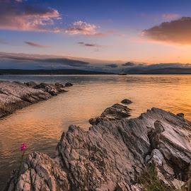 Sunset on the strange coast.. by Mario Španjić - Landscapes Sunsets & Sunrises ( sunset, sea )
