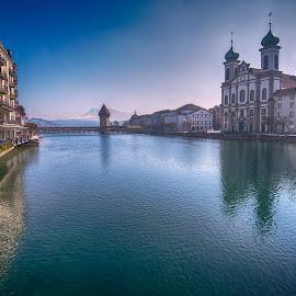 Lucerne by Pravine Chester - City,  Street & Park  Vistas ( photograph, cityscape, landscape, lucerne, lucerne lake, city )