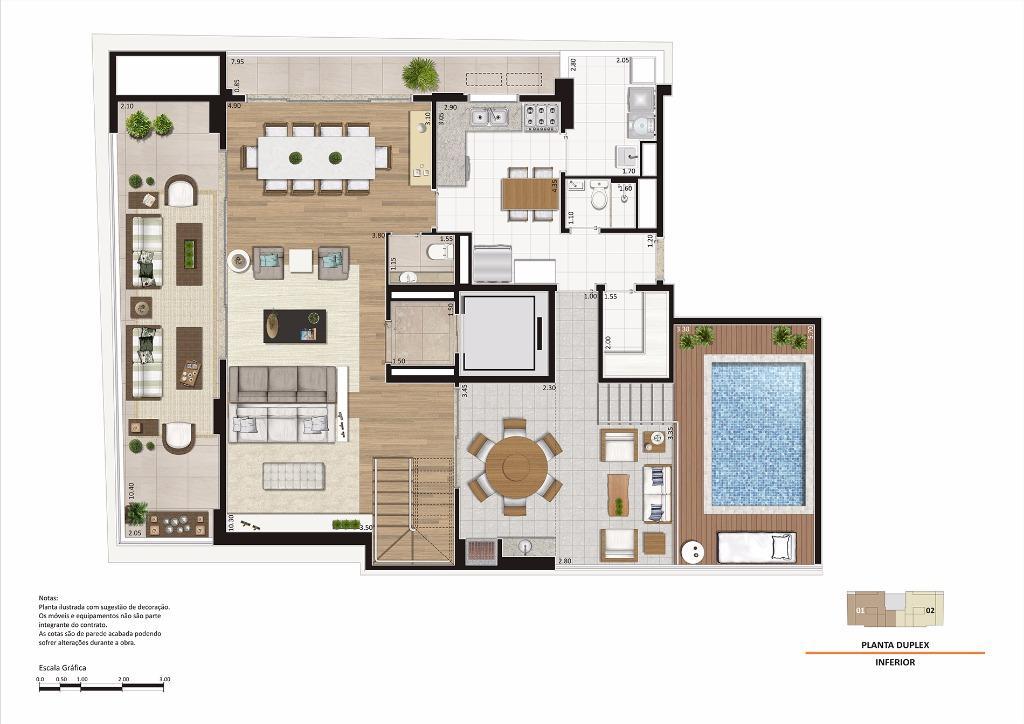 Planta Duplex Inferior - 305 m²