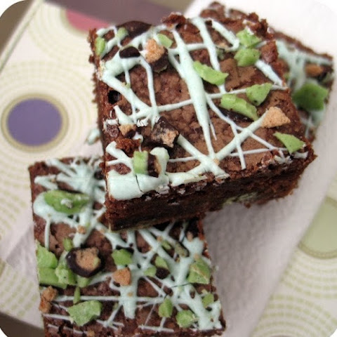 Malted Mint Brownies