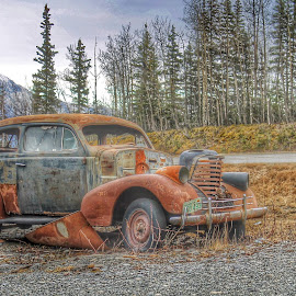 Abandoned by Patricia Phillips - Transportation Automobiles ( cars old vintage abandoned )